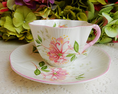Shelley Fine Bone China Dainty Cup & Saucer ~ Honeysuckle (Donna's Collectables) Tags: shelley fine bone china dainty cup saucer ~ honeysuckle