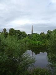 Greens (Bricheno) Tags: glasgow park glasgowgreen statue monument nelson nelsonscolumn bricheno scotland escocia schottland cosse scozia esccia szkocja scoia    river clyde riverclyde reflections