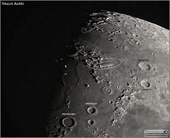 The Vallis Alpes (Alpine Valley) on the Moon (Tom Wildoner) Tags: tomwildoner leisurelyscientistcom leisurelyscientist moon lunar crater solarsystem vallis alpes vallisalpes valley rift astronomy astrophotography astronomer meade celestron canon canon6d teamcanon science space july 2016 satellite outer outerspace