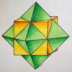 20151126a (regolo54) Tags: regolo54 geometry symmetry tiling pattern tessellation escher structure art platonic polyhedra solid
