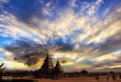 BEFORE THE STORM (GOPAN G. NAIR [ GOPS Creativ ]) Tags: gopsorg gops gopsphotography gopangnair gopan photography storm sky heavenly clouds mahabalipuram shore temple india tamilnadu