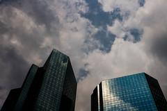 Make it there (stefan.bayer) Tags: make it there sb frankfurt am main skyskrapers hochhuser himmel heaven sky clouds glas