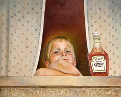 Zofia K. Aue:  Catchup Boy (Walter A. Aue) Tags: zofiakaue paintings gemaelde malereien ketchup catsup catchup boy