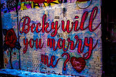 Melbourne art (Theresa Hall (teniche)) Tags: australia2016 melborneaustralia melbourne russellcharters griffiti graffiti graffitti colour color walls artwork creative beckywillyoumarryme proposal marriageproposal marriage theresahall theresa hall teniche photographer outdoor texture abstract carl