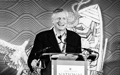 """Jon Meacham, executive editor and executive vice president at Random House, describes his time writing about """"Destiny and Power: The American Odyssey of George Herbert Walker Bush"""" to a packed audience at the the DC Convention Center. (hillels) Tags: book festival dc 2016 johnlewis dianerehm newtgingrich kareemabduljabbar salmanrushdie jamesmcbride jonmeacham maryland terrapins terps collegepark basketball madness marylandmadness xfinity comcastcenter athletics fans mens womens october"""
