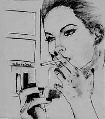 Drawing By Shahrzad Ranji (Shahrzad Ranji) Tags: drawing hand draw drawn painting portrait pencil poeople woman artwork artsy artist artisawoman artistic shahrzadranji drawings flickraward flickr beauty beautiful blackwhite blackandwhite best bw painters