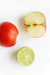 Summer Fruits (wuestenigel) Tags: lime food summerfruits vitamins citrus fruits apple healthy brunch