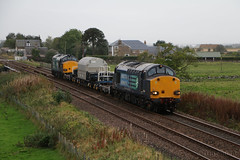DRS 37607 & 37218 at Forteviot (Tug60044) Tags: drs class 37 37218 37607 6s99 carlisle georgemas jn junction dunkeld birnam perth perthshire forteviot hml highland main line rail network direct services scotland flask