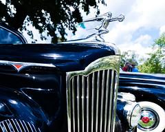 Packard hood ornament (hz536n/George Thomas) Tags: riverside park orphans car show 2016 cs5 canon canon5d ef1740mmf4lusm michigan september summer ypsilanti carshow copyright packard hood grille riversidepark orphanscarshow goddessofspeed