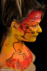 Afrika 2 (Axel Khan) Tags: afrika bodypainting kunst portrait gesicht africa art face