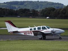 N64VB Beech Baron 58 (Aircaft @ Gloucestershire Airport By James) Tags: gloucestershire airport n64vb beech baron 58 egbj james lloyds