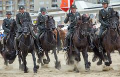 Side by side (dtepas) Tags: holland horse horses beach strand zand scheveningen nederland netherlands ruiter militair military uniform september animal paard paarden canon 60d outdoor buiten denhaag thehague sigma