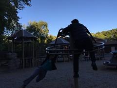 Inertia (nikitalesnik) Tags: play fun people iphone6 phone playground iphone burst speed wheel swings park swinging