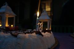 Bhirthday cake (dnlKnots) Tags: cake 18birthday 18yearsold candle birthdaycake torta panna candela 18anni ilce5000 sony sonya5000 fuoco luce fire light bokeh cioccolato dolce