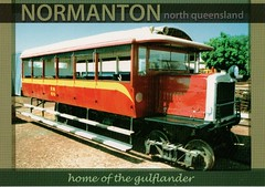 Normanton Home of the Gulflander (Liz Pidgeon) Tags: postcard train