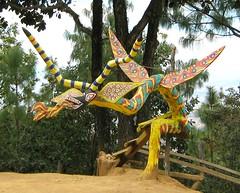 Dragon Wood Carving Oaxaca Mexico (Ilhuicamina) Tags: mexico mexican woodcarvings sculptures dragon monster paxtlan oaxaca folkart crafts zapotec