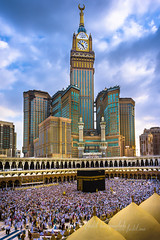 Kaabah Masjidil Al-Haram & Zam-zam Clock Tower, Mecca (Fadil Basymeleh) Tags: tower clock architecture sony islam east saudi arabia middle 16mm haji mecca masjid pilgrim islamic mekah hajj mekkah zamzam kaabah alharam masjidil qaaba nex5