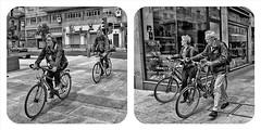 On // Off (Walimai.photo) Tags: bw white black byn blanco bike bicycle lumix negro bicicleta panasonic salamanca lx5