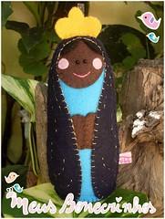 Nossa Senhora Aparecida (meusbonecrinhos) Tags: toy felt feltro boneca decorao aparecida santo senhora nossa