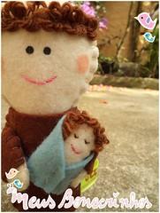 Mini Santo Antonio (meusbonecrinhos) Tags: toy handmade mini feltro antonio santo