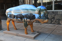 Bison in bison (julianna6234) Tags: art statue painting yellowstone bison westyellowstone