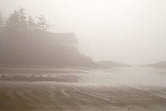 House of Fog and Sand (rskura) Tags: ocean trees sea house beach water fog reflections sand surf waves peace britishcolumbia peaceful minimal fantasy ethereal tofino lonely tones timeless neutral wickaninnishbeach pentaxfa35mmf2 justpentax pentaxk7