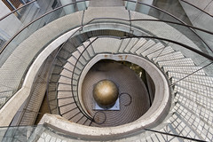 Embarcadero Vortex (boingyman.) Tags: sf sanfrancisco california street architecture stairs canon ball spiral explore staircase embarcadero 1022 uwa explored t2i boingyman