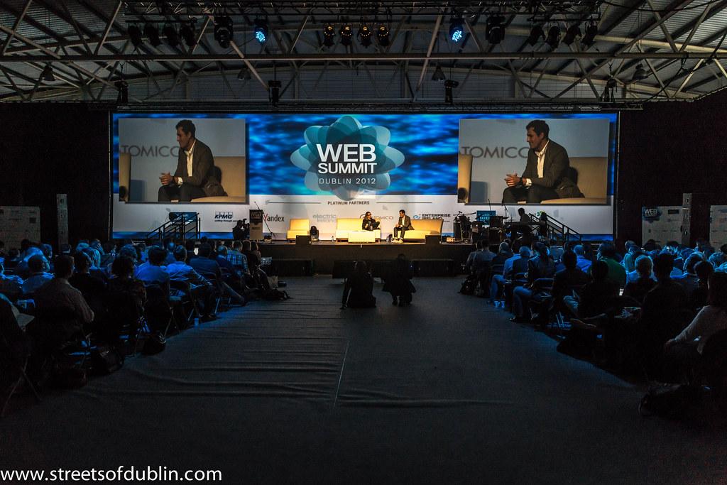 Paul Sciarra and Michael Birch: Web Summit 2012 In Dublin (Ireland)