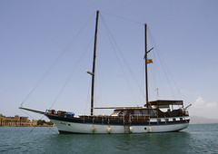 Cruise Boat In Massawa, Eritrea (Eric Lafforgue) Tags: africa color colour tourism horizontal outdoors photography day redsea nobody nopeople transportation mast eritrea cruiseboat hornofafrica coastaltown eastafrica batsi ottomanempire 8887 italiancolony massaoua italiancolonialempire