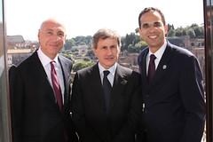 Providence Mayor Angel Taveras with Roman Mayor Gianni Alemanno