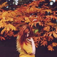 Adapting into Autumn (Rebecca Bentliff) Tags: autumn trees light portrait selfportrait tree nature girl leaves self 50mm countryside woods natural peaceful rebeccapalmer canon5dmarkii
