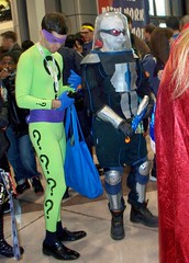 Riddler & Mister Freeze (twasbrillig12) Tags: new york comic freeze mister con riddler nycc