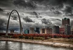 St Louis Drama (Jon Dickson Photography) Tags: reflection clouds downtown dramatic riverfront drama hdr mygearandme dblringexcellence flickrstruereflection1 vigilantphotographersunite