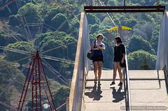 Girls crossing (sbyrnedotcom) Tags: bridge girls people rural australia fair nsw ferriswheel rides amusements lismore northernrivers northcoastnationalshow lismoreshow2012
