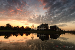 My First 84.5 mm. ND soft grad strong filter shot..... (nldazuufotografeert.com) Tags: sunset water zonsondergang huis gelderland reflectie loovelden huissen sunsetcolours lingewaard heteiland 845mmgradfilterstrong