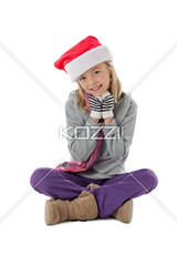cute yuoung girl sitting against white background, (peeps2012ilay) Tags: christmas cute girl smile festival female scarf season photography holding december sitting joy fulllength adorable happiness celebration indoors event whitebackground blonde innocence studioshot cheerful blondehair santahat casualwear oneperson caucasian lifestyles headwear individuality headgear toothysmile legscrossed casualclothing handsclasped colorimage handonchin childrenonly onegirlonly elementaryage expressingpositivity legscrossedatankle 78years publiccelebratoryevent