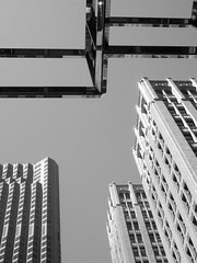 Abstract Building Patterns (shaire productions) Tags: city urban blackandwhite bw abstract building monochrome buildings photography corporate photo blackwhite downtown pattern image patterns shapes monotone photograph metropolis grayscale shape imagery
