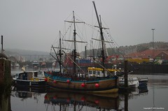 Whitby Harbour (joanjbberry) Tags: sea fog pentax yorkshire whitby pirateship yaght whitbyharbour manualexposure k30 yorkshirecoast pentaxk30