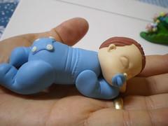 Baby no Soninho (Kelly arte e costura) Tags: artesanato biscuit trabalhosmanuais lembrancinhas chaveiros porcelanafria