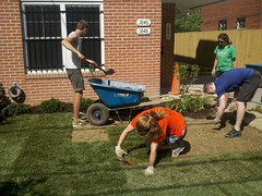 "Volunteers Lay Out Grass • <a style=""font-size:0.8em;"" href=""http://www.flickr.com/photos/89365820@N03/8135827003/"" target=""_blank"">View on Flickr</a>"