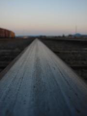Rail (dominik18s) Tags: road wood railroad blue sky metal train stew graffiti track railway chips cedar locomotive hatch cart stinky gravel rebarb