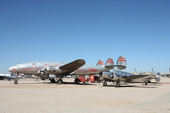 Life is a Beech with Connie (twm1340) Tags: arizona museum airplane tucson space aircraft aviation air transport az historic pima collection connie beechcraft lockheed beech twa airliner constellation 2012 expeditor pasm uc45j l049