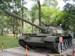 Tank at the Reunification Palace, Saigon (mbphillips) Tags: saigon fareast southeastasia vietnam    asia     mbphillips canonixus400