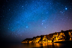 Stars Above the Cliffs of Beer (DorsetScouser) Tags: sea beach beer stars coast seaside astro coastal devon astrophotography astronomy fullframe astrology stargazing milkyway eastdevon jurassiccoast nikond800