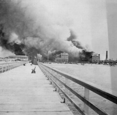 The Breakers Hotel on fire: Palm Beach, Florida (State Library and Archives of Florida) Tags: beach florida piers palm hotels resorts fires atlanticocean palmbeachcounty henryflagler nationalregisterofhistoricplaces thebreakershotel historichotels referencecollection diasters industrialists statelibraryandarchivesofflorida historicpreservationmonth 1southcountyroad