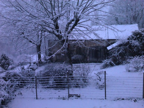 Snowy Dordogne morning
