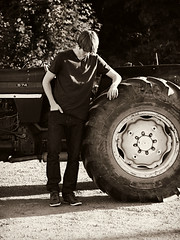 (laurenthacher) Tags: pictures road boy summer portrait bw brown sun white tractor black detail guy art love boyfriend nature boys sunshine wheel sepia barn contrast america vintage pose out outside outdoors photography town photo big amazing cool natural artistic photos guitar outdoor good farm awesome details small country picture large dirt photographs photograph american mysterious about farmer process laurene laurenlet lauren~elizabeth lauren♥elizabeth laurenthacher