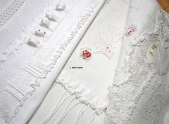 loops and embroidery (contemporary embroidery) Tags: loops edges seams whitecloth bullionknots