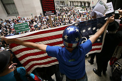 AmerFlag (Oak217) Tags: nyc ny for downtown president rally protest financialdistrict wallstreet anti 2008 canonef1740mmf4lusm nyse greenparty mattgonzalez canoneos5d bailout raplhnader 700billion