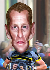 Lance Armstrong - Caricature (DonkeyHotey) Tags: face photomanipulation photoshop photo cyclist political politics cartoon manipulation caricature politician olympics tourdefrance lancearmstrong commentary doping roadracing politicalcommentary donkeyhotey lanceedwardarmstrong